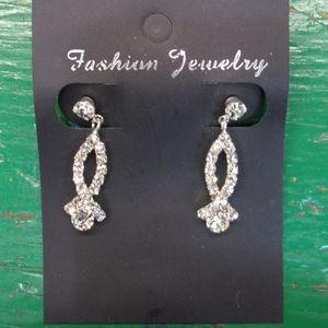 Earrings - Rhinestone - Pierced